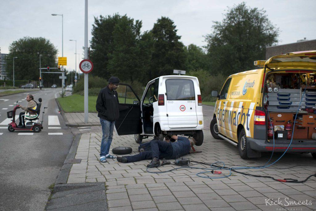 Pechhulp aan een Canta in Amsterdam Noord.