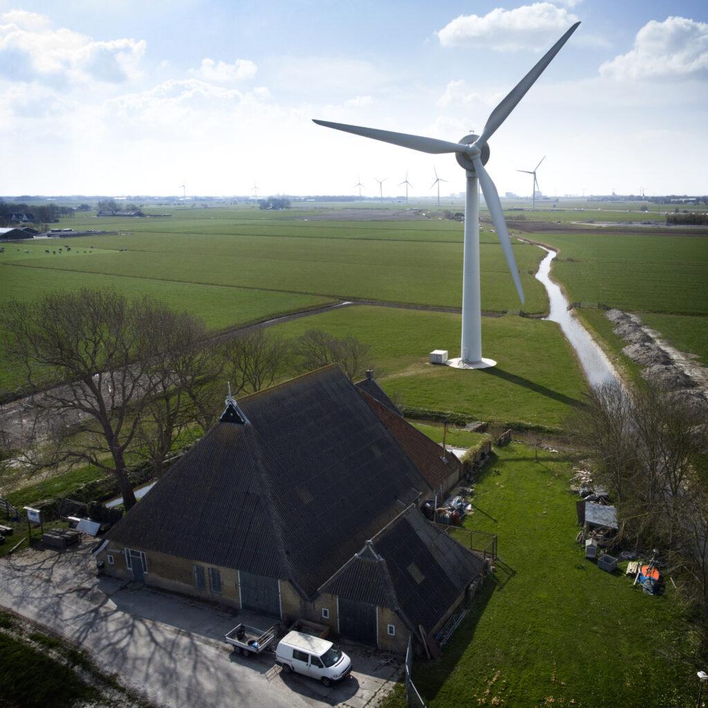 Windturbine te Friesland